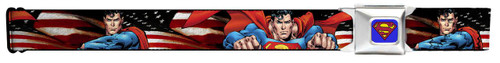Image for Superman Seatbelt Buckle Belt - Poses