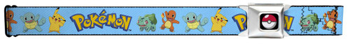 Image for Pokemon Seatbelt Buckle Belt - Kanto Starter