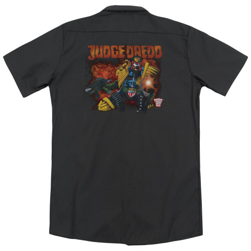 Image for Judge Dredd Dickies Work Shirt - Through Fire