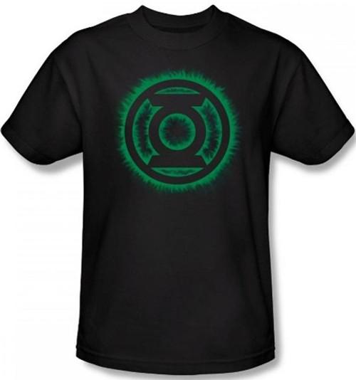 Image Closeup for Green Lantern Green Flame Logo T-Shirt