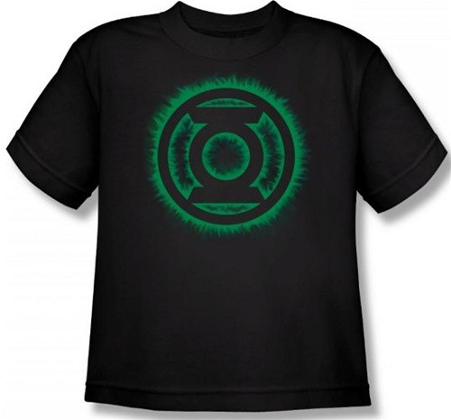 Image for Green Lantern Green Flame Logo Youth T-Shirt