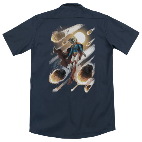 Image for Justice League Of America Dickies Work Shirt - Supergirl #1