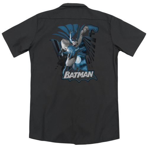 Image for Justice League Of America Dickies Work Shirt - Batman Blue & Gray