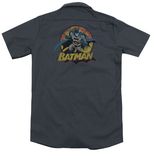 Image for Justice League Of America Dickies Work Shirt - Batman Rough Distress