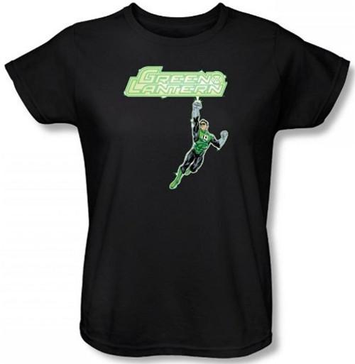 Image for Green Lantern Energy Construct Logo Woman's T-Shirt
