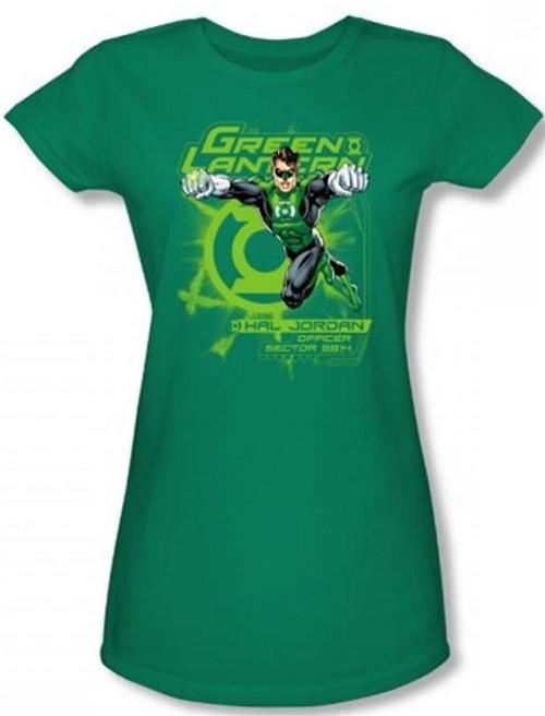 Image for Green Lantern Sector 2814 Girls Shirt