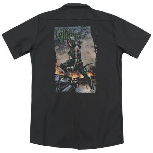 Image for Justice League Of America Dickies Work Shirt - Fire And Rain
