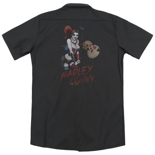 Image for Justice League Of America Dickies Work Shirt - Harley Hammer