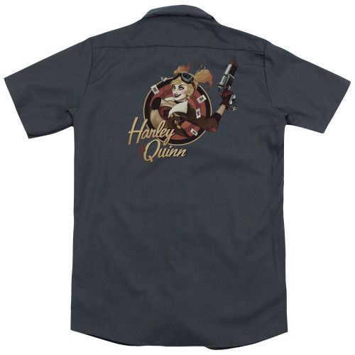Image for Justice League Of America Dickies Work Shirt - Harley Bomber