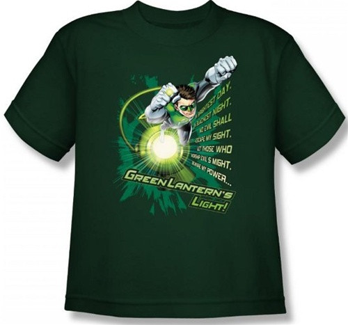 Image for Green Lantern Flying Oath Youth T-Shirt