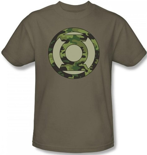 Green Lantern Camo Logo T-Shirt DC Comics Sizes S-3X NEW
