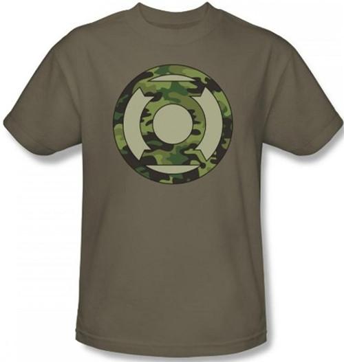 Image Closeup for Green Lantern Camo Logo T-Shirt