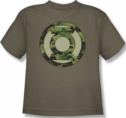 Image for Green Lantern Camo Logo Youth T-Shirt