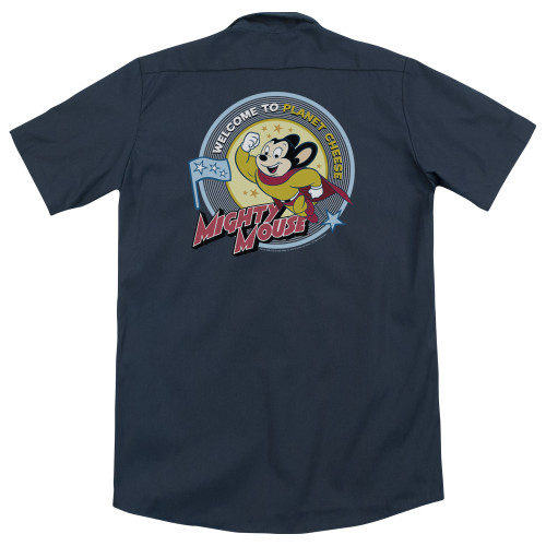 Image for Mighty Mouse Dickies Work Shirt - Planet Cheese