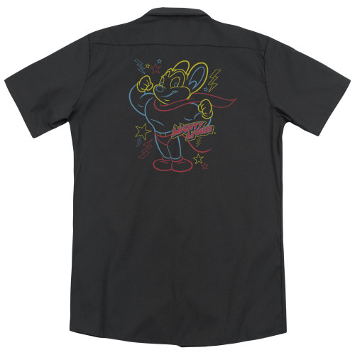 Image for Mighty Mouse Dickies Work Shirt - Neon Hero