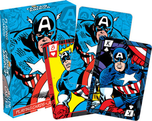 Image for Captain America Playing Cards - Comics