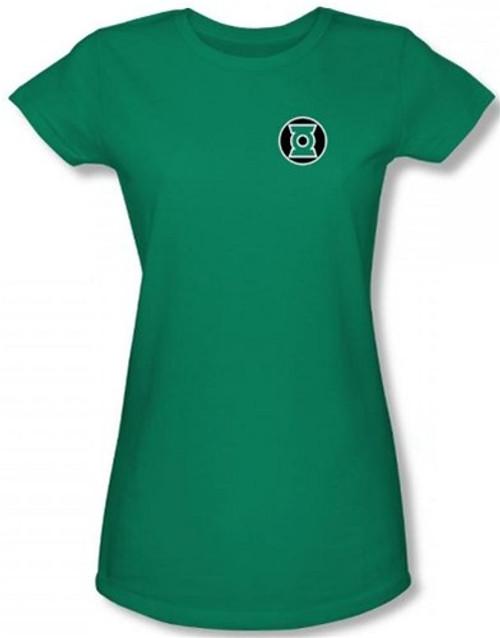 Image for Green Lantern Kyle Reyner Logo Girls Shirt