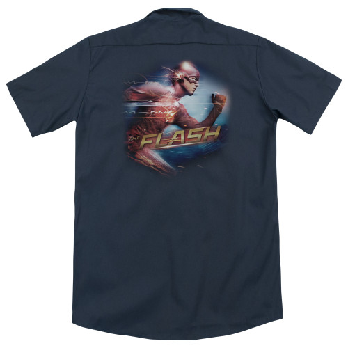 Image for The Flash TV Dickies Work Shirt - the Fastest Man