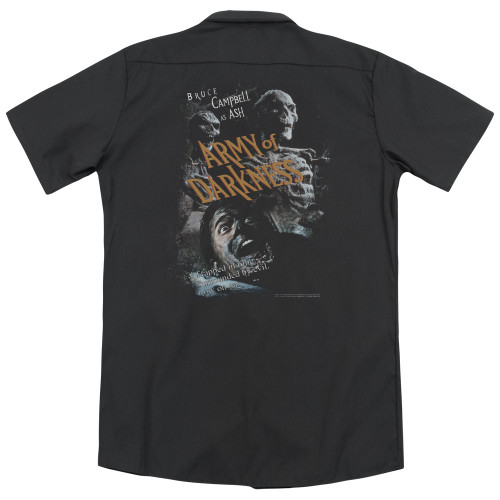 Image for Army Of Darkness Dickies Work Shirt - Covered