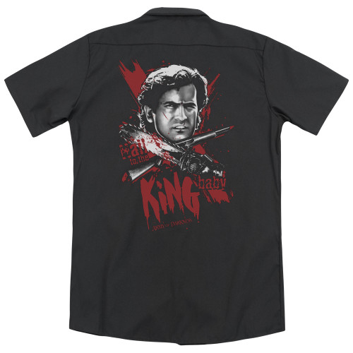 Image for Army Of Darkness Dickies Work Shirt - Hail To The King