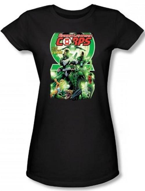 Image for Green Lantern Corps #25 Logo Girls Shirt