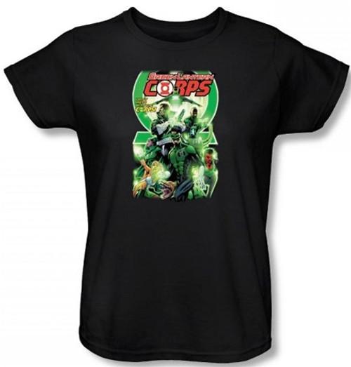 Image for Green Lantern Corps #25 Logo Woman's T-Shirt