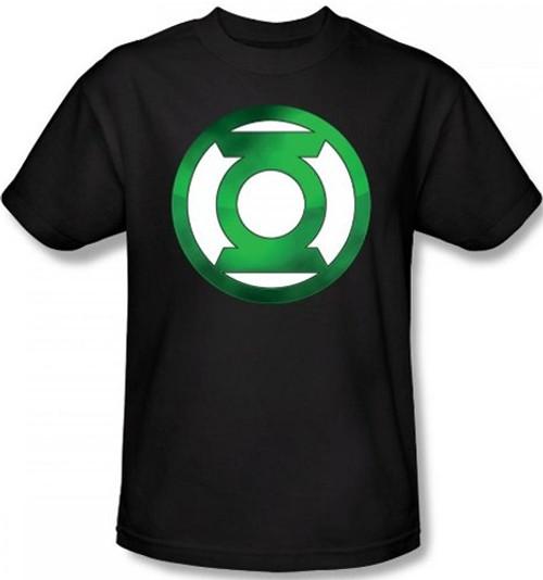 Image Closeup for Green Lantern Green Hot Rod Logo T-Shirt