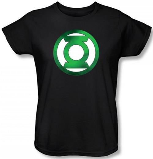 Image for Green Lantern Green Hot Rod Logo Woman's T-Shirt
