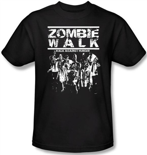 Image Closeup for Zombie T-Shirt - Zombie Walk Against Hunger