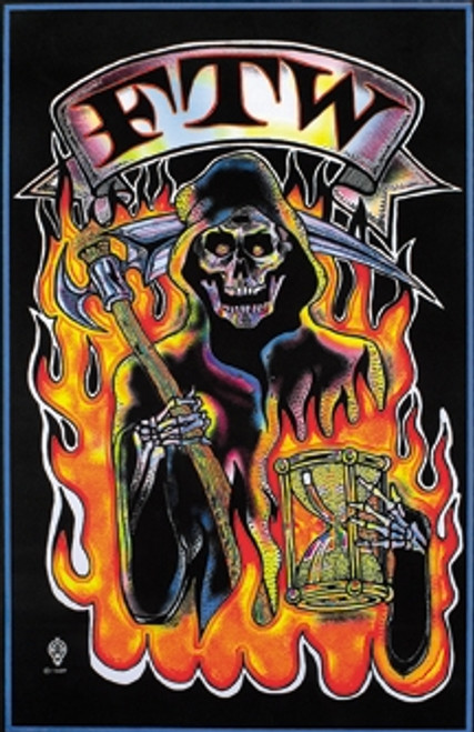 Image for Reaper FTW Blacklight Poster