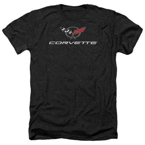 Image for Chevy Heather T-Shirt - Corvette Modern Emblem