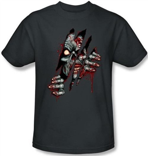 Image Closeup for Zombie T-Shirt - Clawing Free