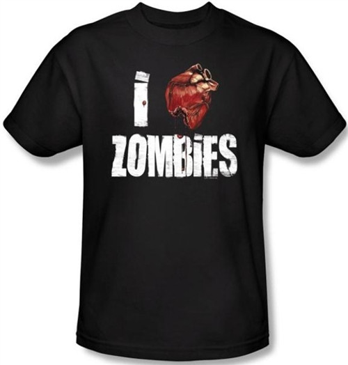 Image Closeup for Zombie T-Shirt - I Heart Zombies