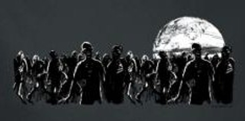Image for Zombie T-Shirt - Zombie Moon