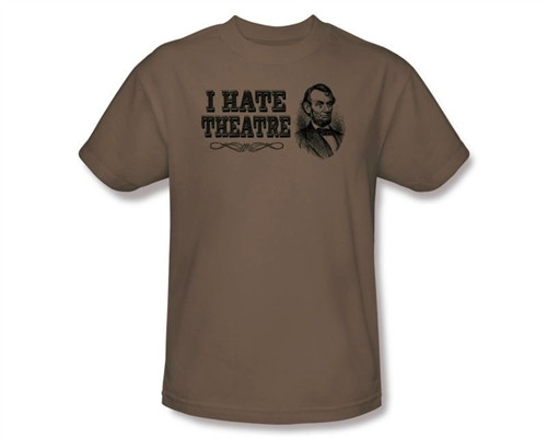 Image Closeup for Abraham Lincoln I Hate Theatre T-Shirt
