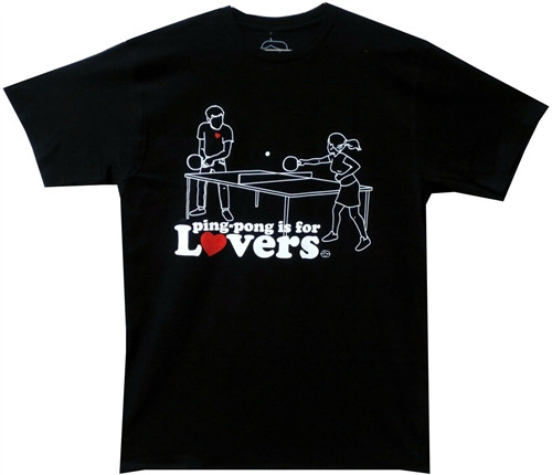 Image Closeup for Ping Pong is for Lovers T-Shirt