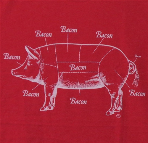 Image for Bacon T-Shirt - Where Bacon Comes From