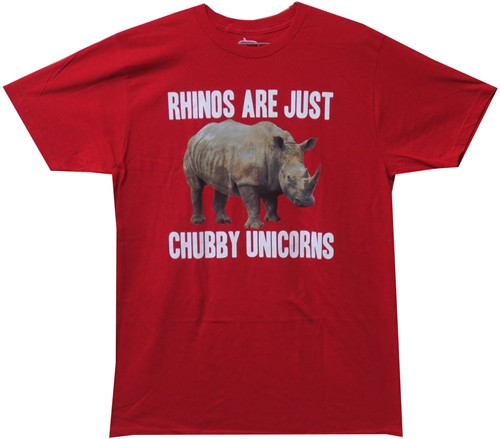 Image Closeup for Rhinos are Just Chubby Unicorns T-Shirt