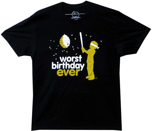 Image Closeup for Worst Birthday Ever T-Shirt