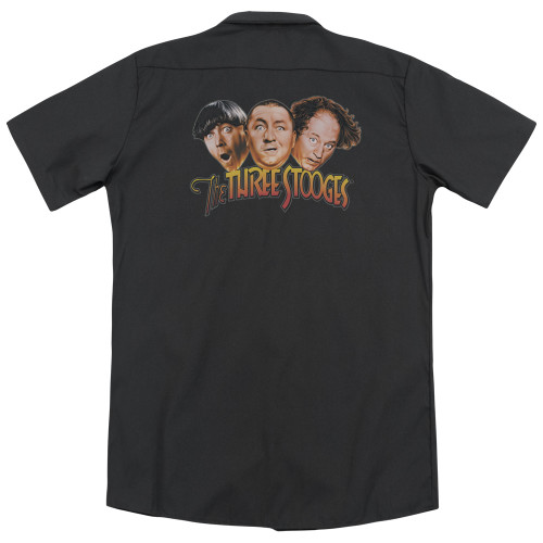 Image for Three Stooges Dickies Work Shirt - Three Head Logo