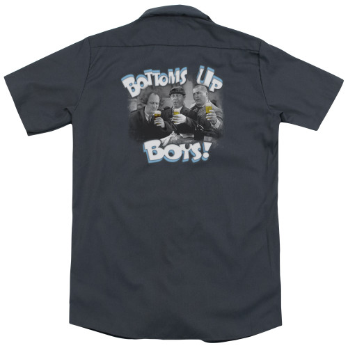 Image for Three Stooges Work Shirt - Bottoms Up