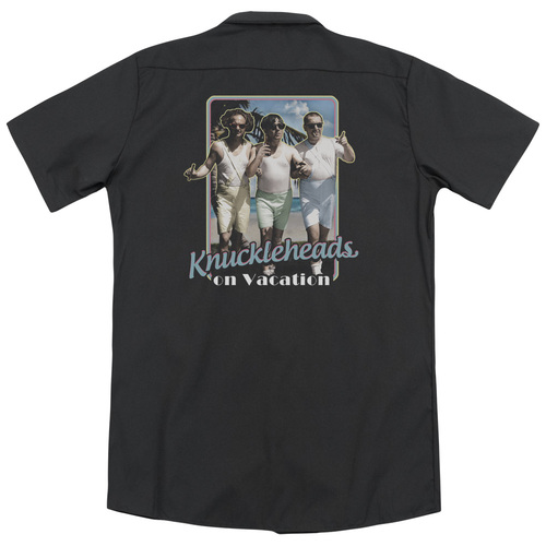 Image for Three Stooges Work Shirt - Knucklesheads On Vacation