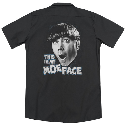 Image for Three Stooges Work Shirt - Moe Face