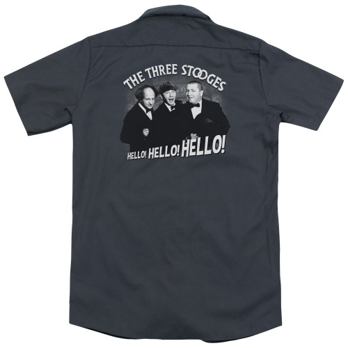 Image for Three Stooges Work Shirt - Hello Again