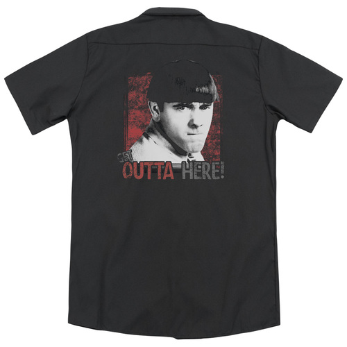 Image for Three Stooges Dickies Work Shirt - Get Outta Here