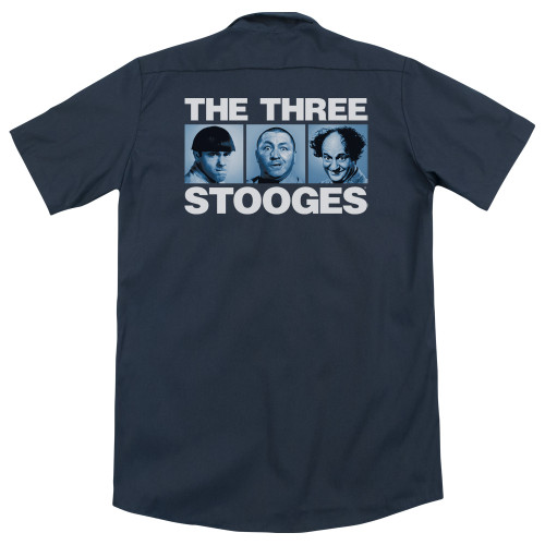 Image for Three Stooges Dickies Work Shirt - Three Squares
