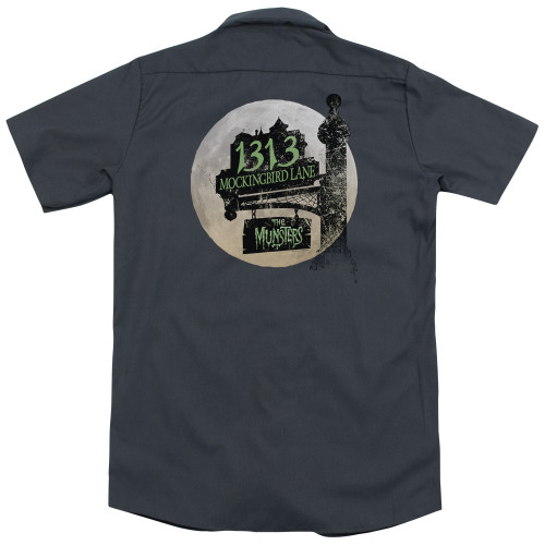Image for The Munsters Dickies Work Shirt - Moonlit Address