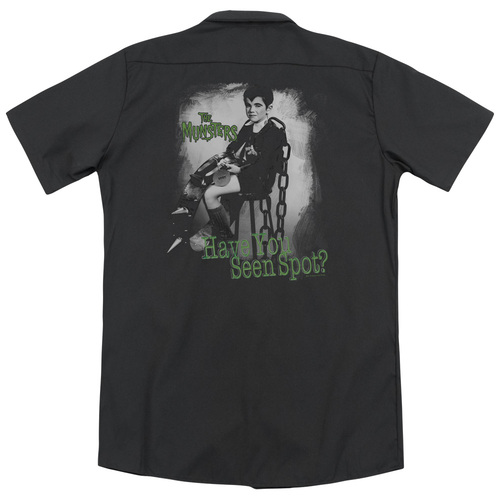 Image for The Munsters Dickies Work Shirt - Have You Seen Spot
