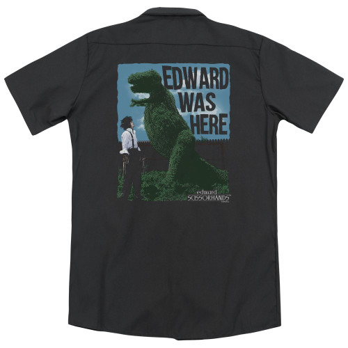 Image for Edward Scissorhands Dickies Work Shirt - Edward Was Here