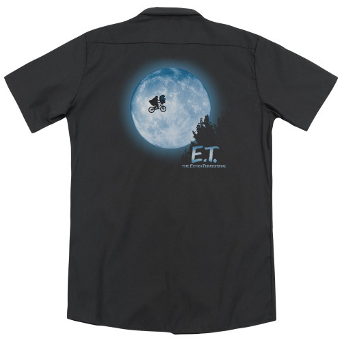 Image for Et The Extraterrestrial Dickies Work Shirt - Moon Scene